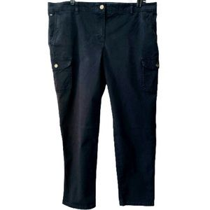 Tommy Hilfiger Pants | Navy Blue | High Rise Cargo | Casual Comfort | Size 16